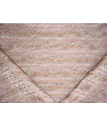 11Y SCHUMACHER FRENCH MINT FLORAL / SCROLL SILK DAMASK UPHOLSTERY FABRIC - $267.41