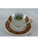 demi tasse cup set Bavaria Hand Ausgemalt crossed swords Prein Chiemsee ... - $39.59