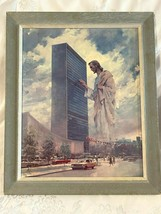 Jesus at United Nations Harry Anderson Seventh Day Adventist Textured Print - $29.65