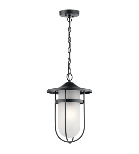 Primary image for Kichler 49828BK Finn Outdoor Pendant 11in Black Aluminum 1-light