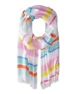 NWT KATE SPADE WHITE COLOR STRIPPED WOMEN CAPE OBOLONG MODAL SCARF $88 - $1.111,83 MXN