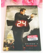 24 Kiefer Sutherland Complete Season Seven TV Series Gently Used DVD's 6... - $19.99