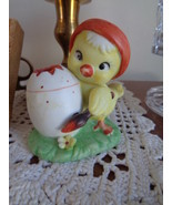 Lefton Chick Painting An Egg Figurine Chicken - $19.99