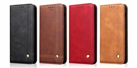 Luxury Vintage Leather Flip Cover Wallet Case For Huawei Honor View 20 V20 - $17.99