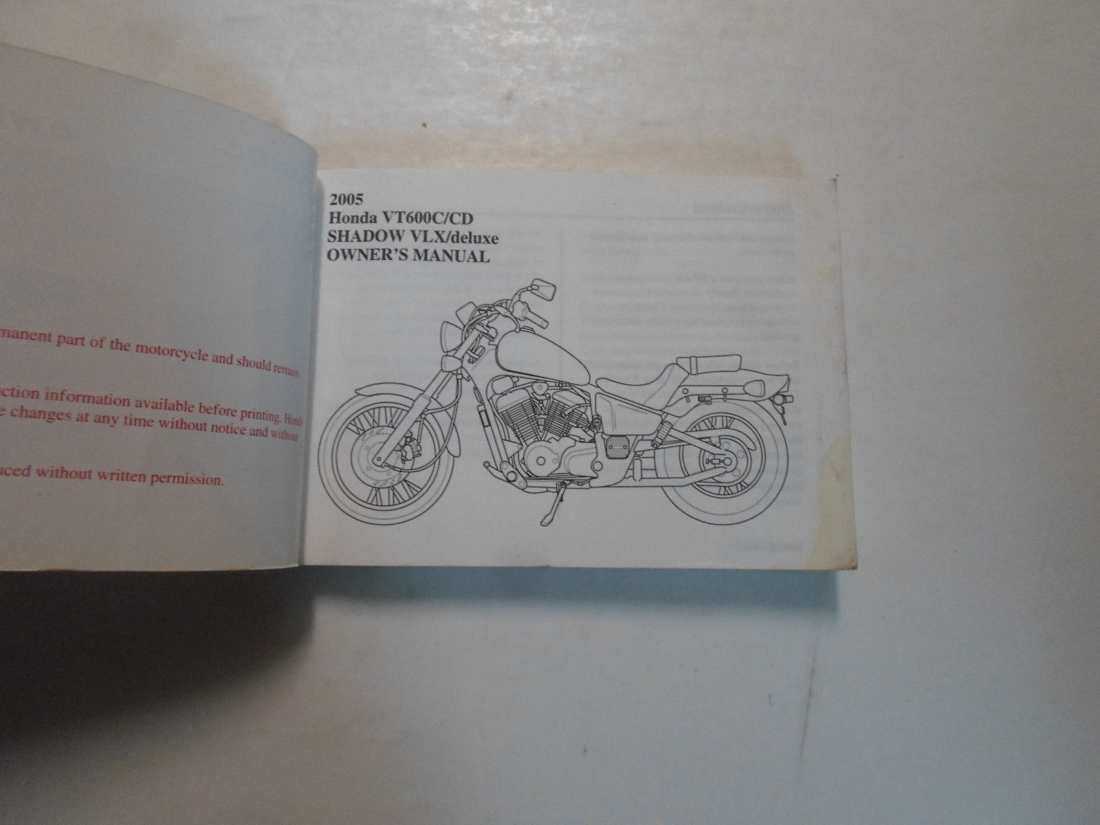 2005 Honda Vt600ccd Shadow Vlxdeluxe And Similar Items