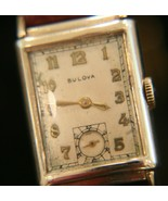 Handsome vintage WWII 1944 men's Bulova 21 jewel USA 14K solid gold wris... - $559.35