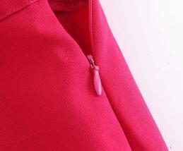 Women's Brand Wear To Work Fashion Solid Pink Long Blazer Jacket & Pant Suit Set image 7