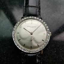 MENS VAVHORON CONSTANTIN Geneve Diamond 34mm 18K白金手册1970年代LV307  -  $ 6,425.10