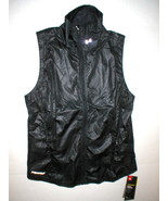 New Womens Under Armour Vest NWT Storm Black M Reflective Run Water Resi... - $32.70