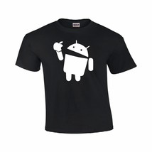 Android Eats Apple T-Shirt Nerd/Computer Geek Cell Phone S-4XL All Color... - $12.74+