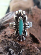 Vimtage Sterling Silver Bell Trading Co.  Turquoise  Ring Size 5  Signed - €32,22 EUR