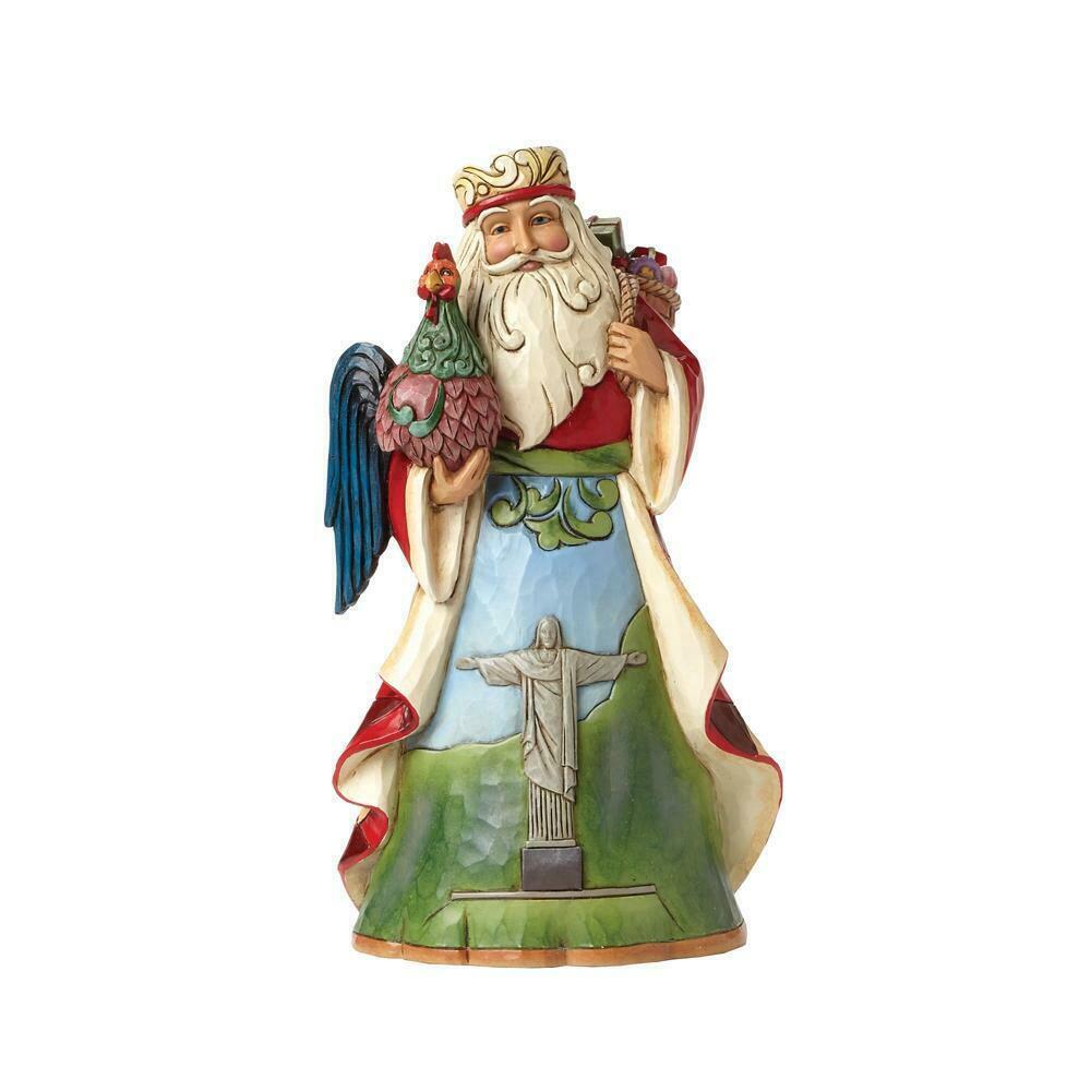 "Brazilian Santa from Jim Shore Around the World Collection 7.25"" High Christmas"