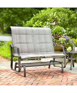 Hampton Bay Statesville Patio Yard Double Swinging Glider Outdoor Bench - $292.05