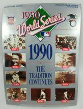 1990 World Series Program Cincinnati Reds and Oakland As Athletics unscored - $12.79