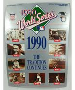 1990 World Series Program Cincinnati Reds and Oakland As Athletics unscored - $15.39