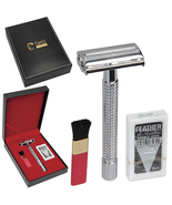 Kingsley Shave Set for Men with Long Handle Double Edge Safety Razor - $35.00