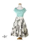 "Vintage Circle Skirt - Jingle Bells Fabric Design Studios David & Dash - W24-27"" - $50.00"