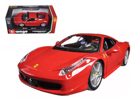 Ferrari 458 Italia Red 1/24 Diecast Model Car by Bburago  - $37.01