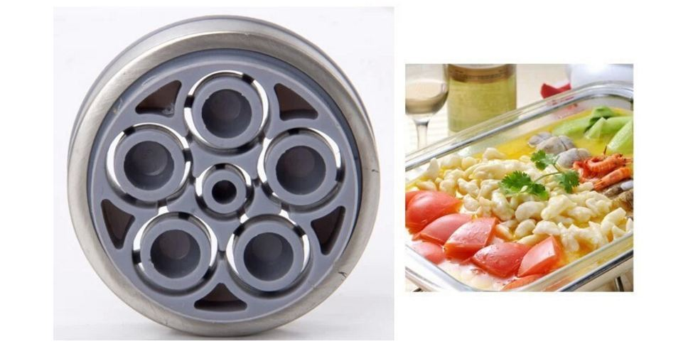 Stainless Steel Manual Noodles Press Machine Pasta Maker with 5 Noodle Mould