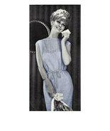 60s Simple Shift Dress with Scalloped Edge - machine knitting pattern (P... - $3.75