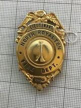 North Royalton, Ohio Lieutenant Fire Depatment Obsolete Badge - $120.00
