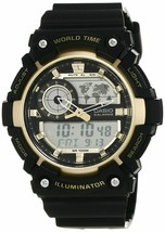 Casio Youth-Combination Analog-Digital Gold Dial Men Watch-AEQ-200W-9AVD... - $109.62