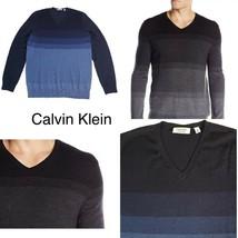Calvin Klein Men's Merino Sweater V-Neck Stripes - $16.19+