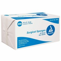 """Surgical Gauze Pads Sponges 4"""" x 4"""" Non Sterile 12 ply 600 Pads + FREE S... - $25.21"""