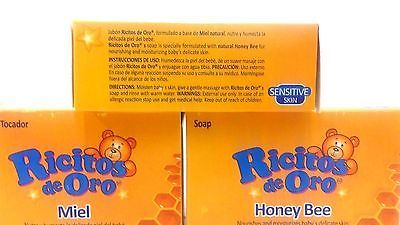 Grisi Ricitos De Oro Honey Bee Bath Soap 3.5 Oz Pack of 3