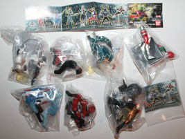 Masked Rider Kamen Figures Full Set of 7 2002 HG Series Bandai Snap Toge... - $69.62