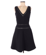 Reiss US 6 Dress A-Line Nelly Sleeveless Fit & Flare Black Cocktail V-Neck - $74.95