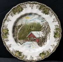 """Johnson Brothers The Friendly Village Covered Bridge Dinner Plate 10.5"""" - $34.13"""
