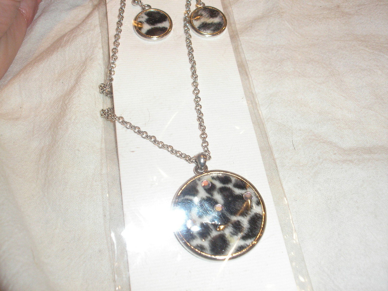 1 Wholesale African style Leopard adjustable Necklace & Earrings by Lovely NEW