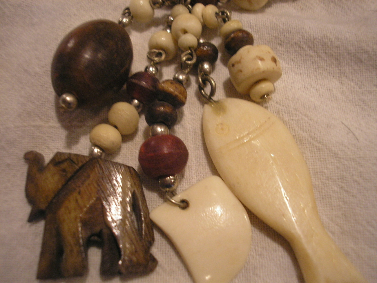 1 set Handcrafted African style Necklace & Earrings Wood, Ceramic Wholesale NEW