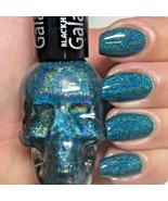 Blackheart TEAL GALAXY Blue Holographic Nail Polish Skull Black Heart .4... - $8.85