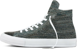 Converse Mens Chuck Taylor All Star Hi Flyknit 157509C Teal/White Size 10 image 4