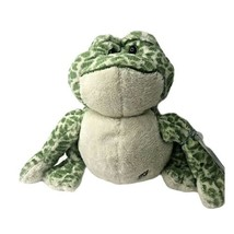 Webkinz Ganz Bull Frog Plush Green Spotted Stuffed Animal Toad Toys Kids - $10.88
