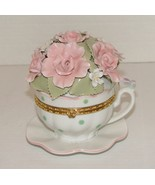 High Quality Porcelain Rendering : Suberto Teacup Music Box  - $10.00