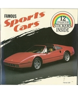 Famous Sports Cars Jill Wolf Softcover Booklet includes 12 Collector Sti... - $1.99