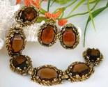 Vintage_smoky_brown_quartz_link_bracelet_earrings_demi_parure_thumb155_crop