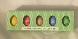 WHITE HOUSE 2018 TRUMP EASTER EGG SET 5 PRESIDENT DONALD  SIGNATURE COLL... - $36.28