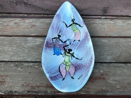 "VTG Mid Century MARC BELLAIRE California Pottery Balinese Dancer 12"" Kidney Bowl - $59.35"