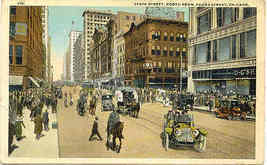 Chicago State Street Traffic 1922 Vintage Post Card - $6.00