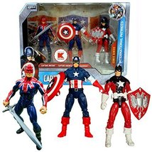 Marvel Year 2011 Captain America The First Avenger Series 3 Pack 4 Inch ... - $64.99