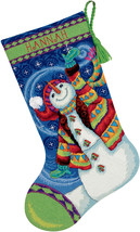 "Dimensions Stocking Needlepoint Kit 16"" Long-Happy Snowman Stitched In W... - $26.26"