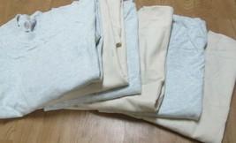 Men's Pocket T-Shirt Fruit of The Loom 2XL100 % Cotton 6 PC 2 Colors Tan... - $25.85