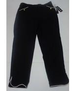 Women's Ankle Pants Black SZ L Zoe & Phoebe - $17.99