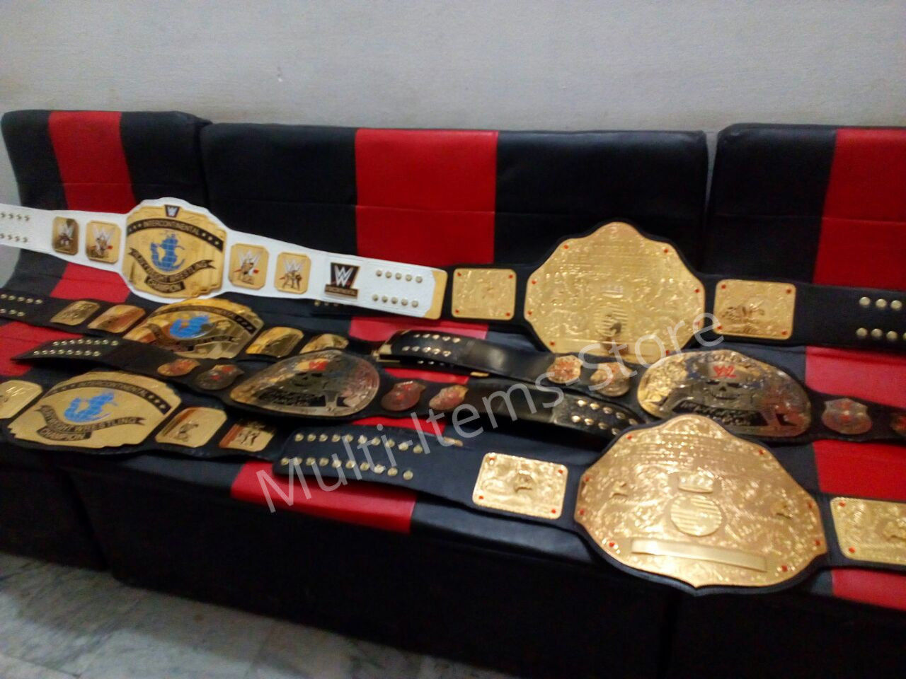 Stone Cold Smoking Skull World Heavyweight Champion Replica Belt 4mm image 5