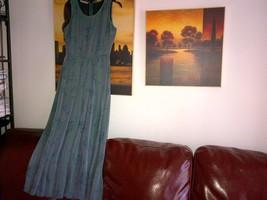 Armani silk green long dress pleated skirt  lined in silk IT 40, UK 6-8 image 3