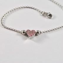 Silver Bracelet 925 Jack&co with Heart Stylized and Zircon Cubic JCB0858 image 2